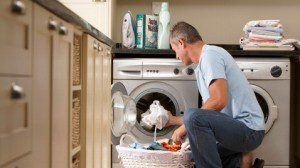 Is the 'modern man' helping his wife with chores?