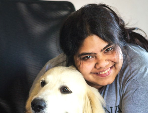Arpita Kapoor with Yoda
