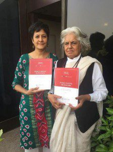 Masooma Ranalvi and Indira Jaising with FGM Legal Doc