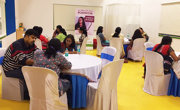 Mentoring sessions taking place at the MentorForHer event