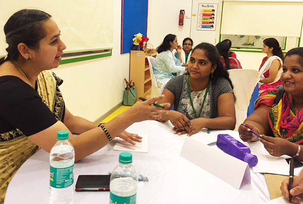 Neeraja Ganesh Mentoring The Attendees