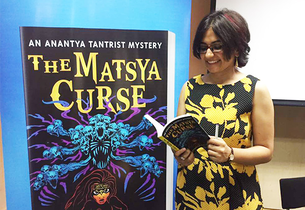 Launch of Shweta Taneja's book The Matsya Curse in Bangalore