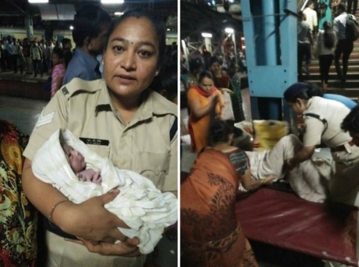 baby delivered in Thane station
