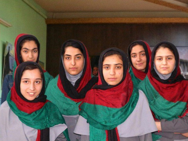 Afghan Girls Robotics team