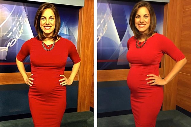 Pregnant news anchor