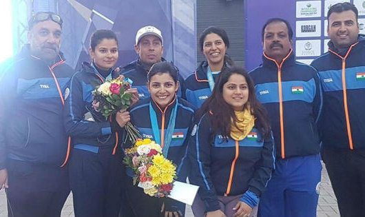 Maheshwari Chauhan Bags Bronze for India At Asian Shotgun Championship