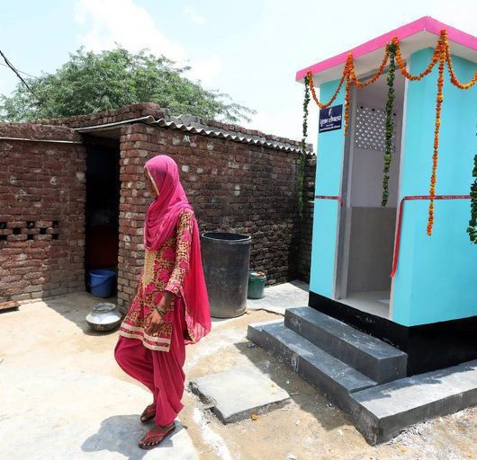Woman Builds Toilets swachh bharat mascot