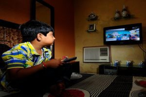 children TV low test scores