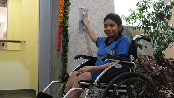 Vasu Bansal , the girl for whom the lift in Mohali school has been installed