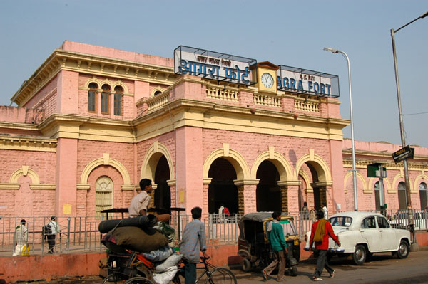 Agra Division Paints Stations Pink
