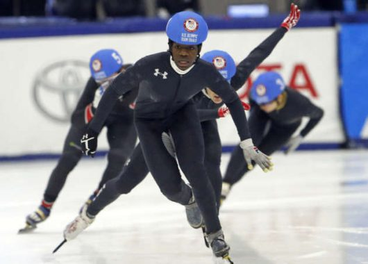 maame biney olympic speedskating team