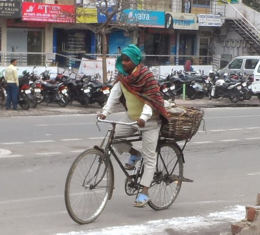 man cycling