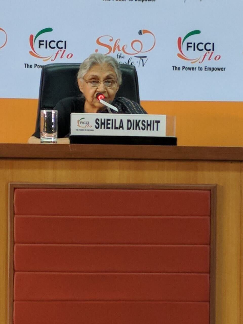 Sheila Dikshit speaking at SheThePeople on her new book