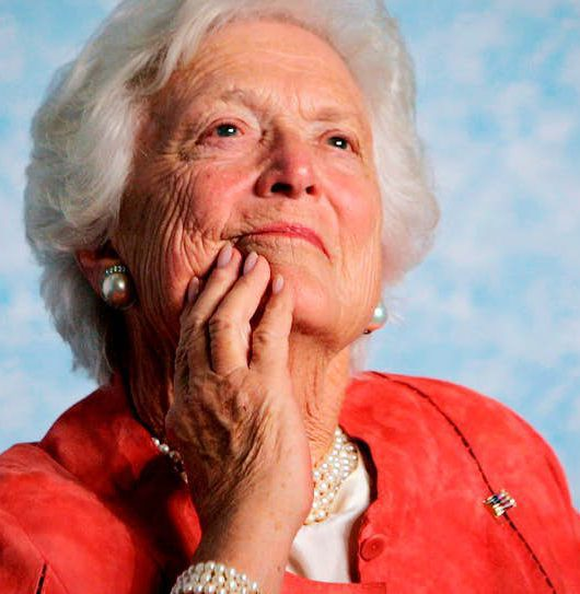 Former US First Lady Barbara Bush