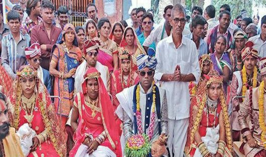 along-with-daughter's-marriage,-man-organises-wedding-of-dalit-girls