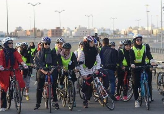 Women's cycle race Saudi Arabia