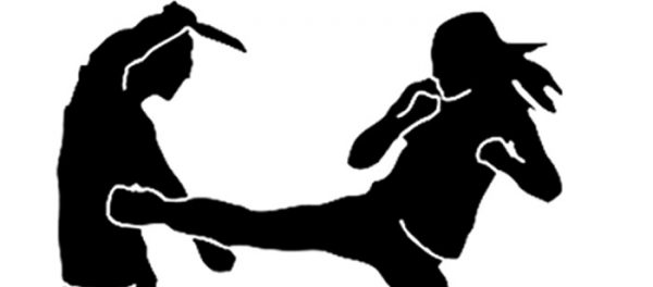 Karate champ thrashes cop