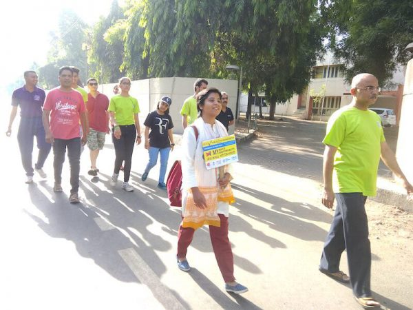 Rajeshwari Singh walks Plastic Pollution