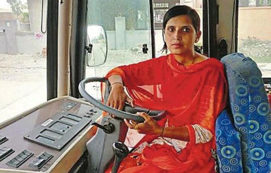 Karnal's First Woman Bus Driver