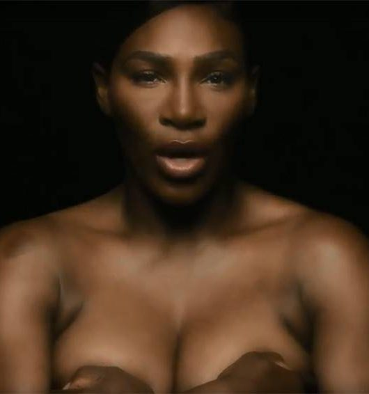 Serena Topless Cancer Awareness