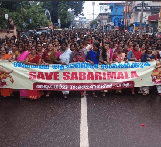 mob attacks women sabarimala