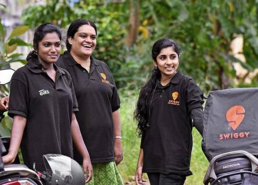 Swiggy hires delivery girls