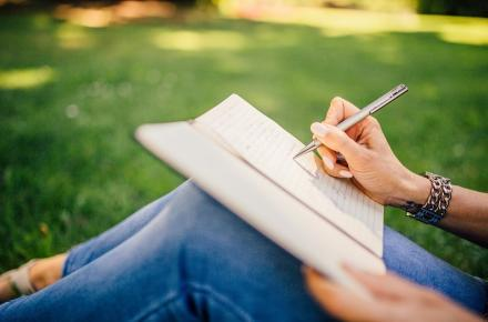 writing natural breathing