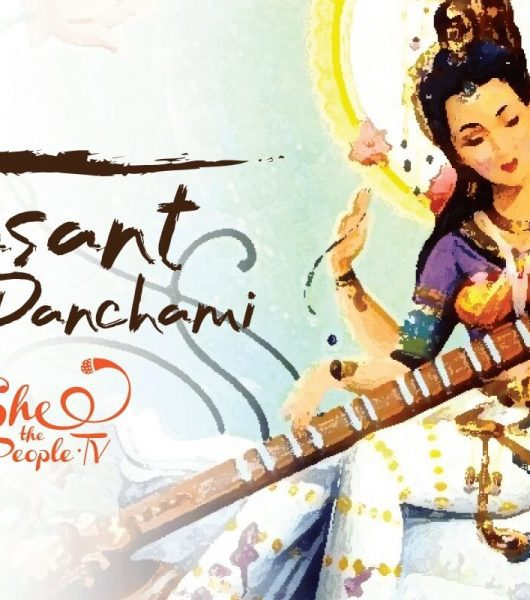 Vasant Panchami Celebration Woman