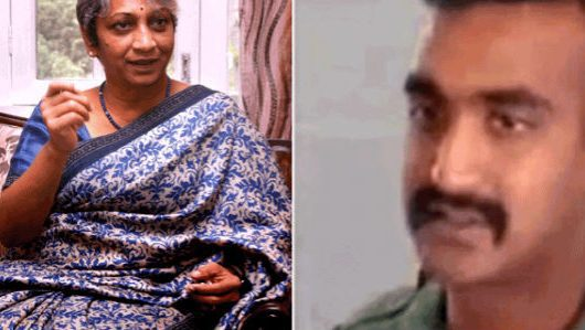 Wing Commander Abhinandan's Mother Dr. Shobha Varthaman