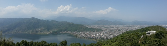 View from the Wordl Peace Pagoda- Pokhara