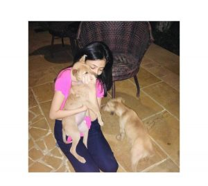 At home playing with her pups. Pic credit - Chandani Grover