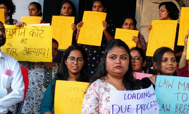 Indian Women Protest CJI
