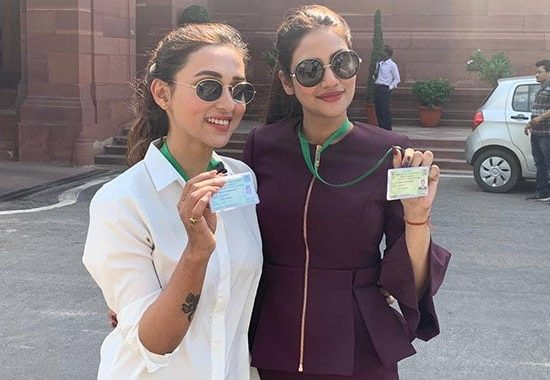 Mimi Chakraborty and Nusrat Jahan