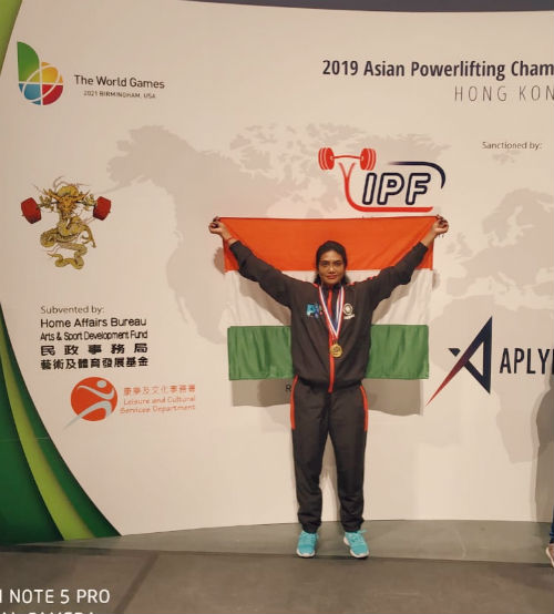 Arathi Arun won gold medal in Asian Power-lifting Championship 2019 in Hong Kong