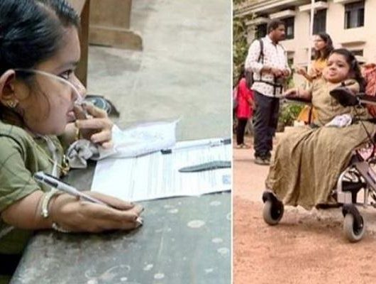 Kerala woman writes UPSC exam with oxygen cylinder