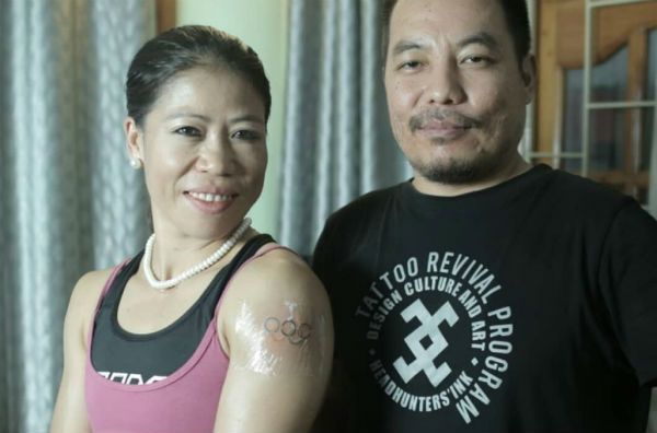 Mary Kom tattoo