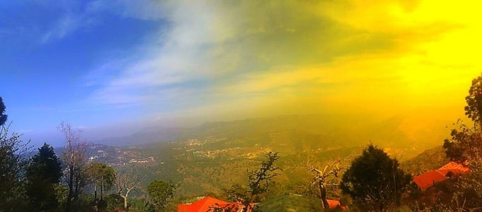 View From One Of The Top Spots In Kasauli