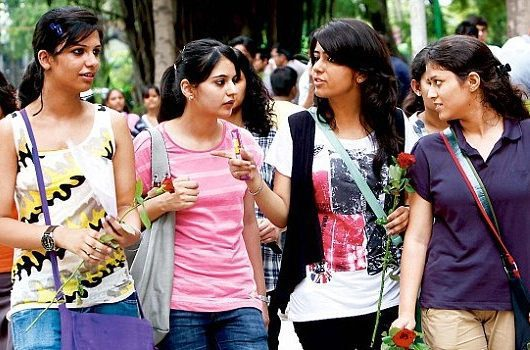 india girl students, india job losses, Delhi University Open Book Examination