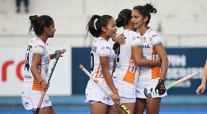 Indian women's hockey team Argentina