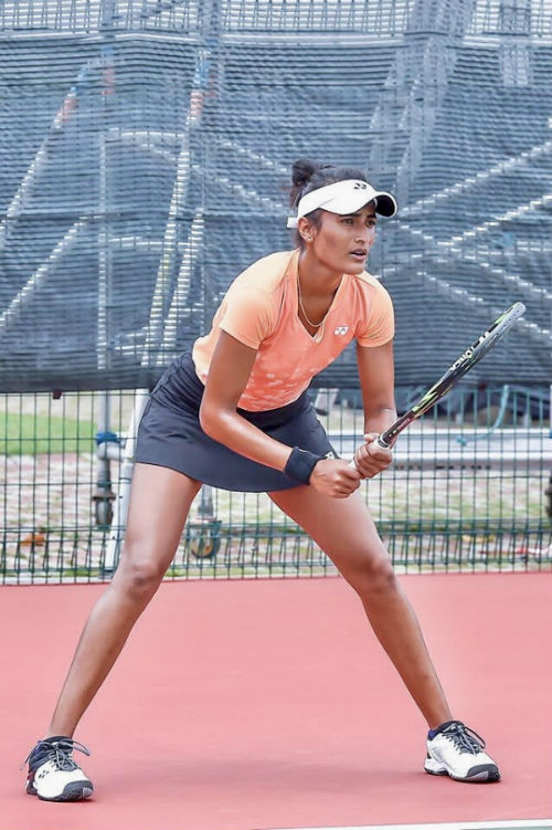Rutuja Bhosale is a professional tennis player