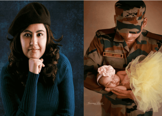 Garima Dixit's recent shoot on army parents and kids