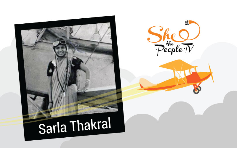 Sarla-Thukral India's first female pilot, Picture by STP