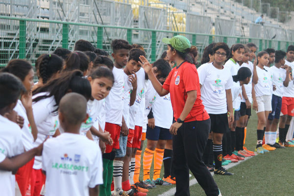 Tanaz Mohammed is a grassroots development officer with Mumbai City Football Club, a Premier Skills-qualified Level One coach and educator