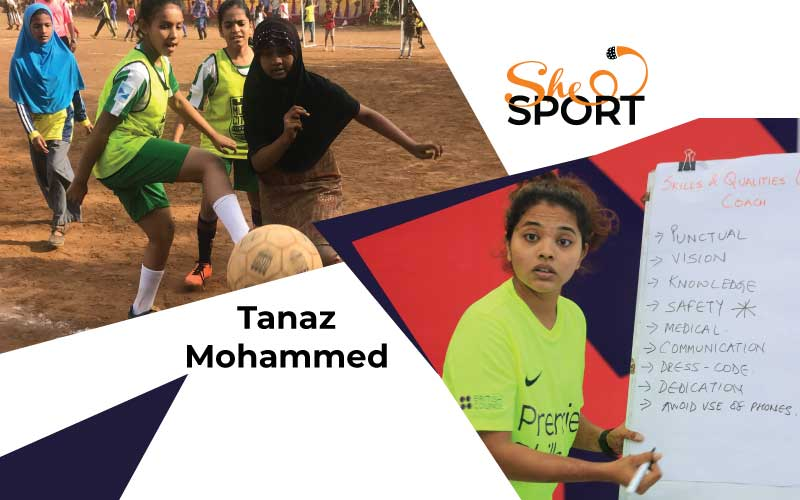 Tanaz Mohammed hockey player football coach