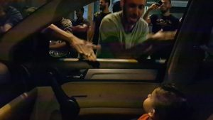 Protesters In Lebanon Sing 'Baby Shark' To Entertain A Toddler