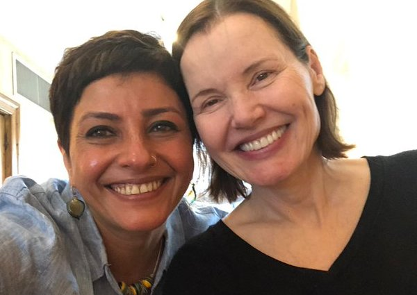 Geena Davis and Leena Yadav