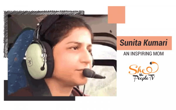 Sunita Kumari aboard a chopper, defies the boundations of motherhood