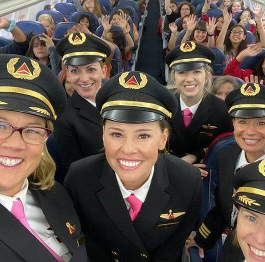 all women flight delta