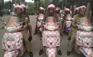 Pink Scooters Women Patrolling Team