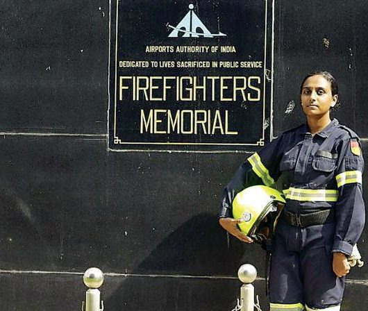 Remya Sreekantan is the first female firefighter in AAI, South India